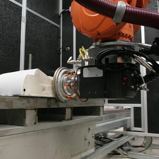 Robotised grinding unit