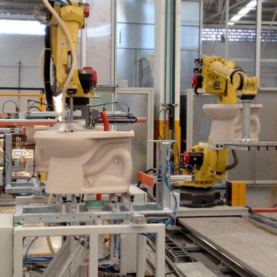 Robotised Glazing Line